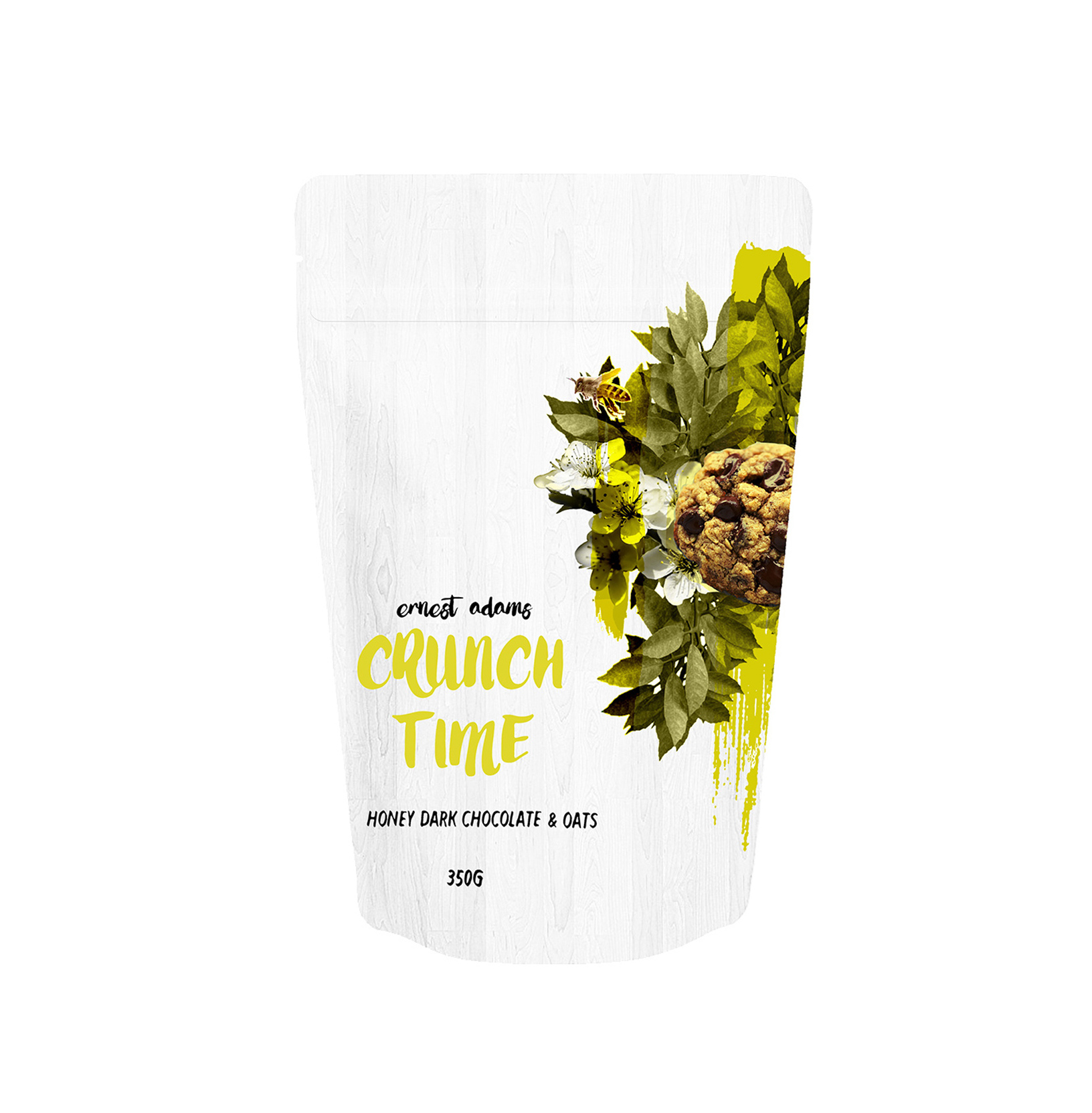 crunch time honey oats and dark choclate packaging